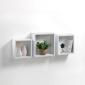CASIER POUR MEUBLE HOMEA Set de 3 étagères cubes de rangement 23-26-3