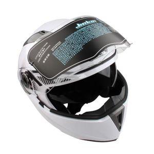 CASQUE MOTO SCOOTER Flip Up casque de moto Scooter modulable  Double v