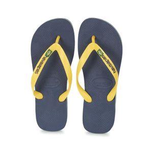TONG Tongs enfant HAVAIANAS brasil logo bleu marine et