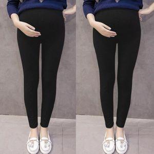 Femmes Unie Mince De Un Noir Et Enceintes Couleur Pantalon Maternité Pantalons Grossesse 8nwmNv0
