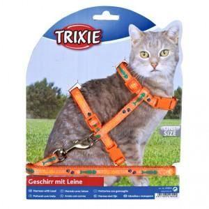 KIT ATTACHE - SELLERIE Trixie Harnais avec laisse pour chats