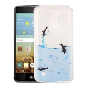 COQUE MP3-MP4 Coque pour LG K7 Lovely Penguins Pattern IMD Workm