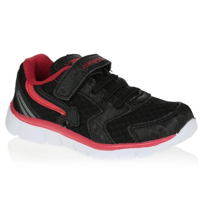 b5e530648b1d AIRNESS Chaussures Stan VLC - Bébé - Noir   Rouge - Achat   Vente ...