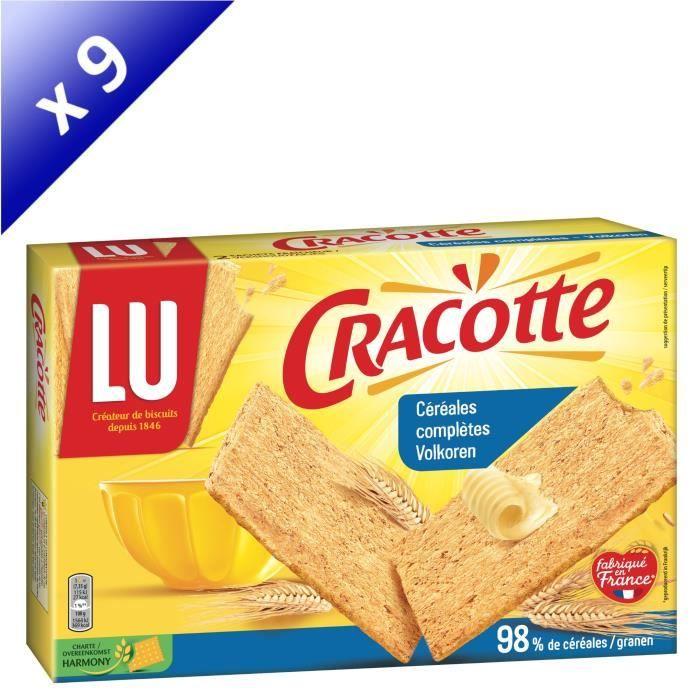Lot de 9 LU Cracotte Céréales complètes 250g