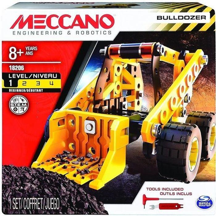 MECCANO BULLDOZER - THEME CHANTIER Meccano
