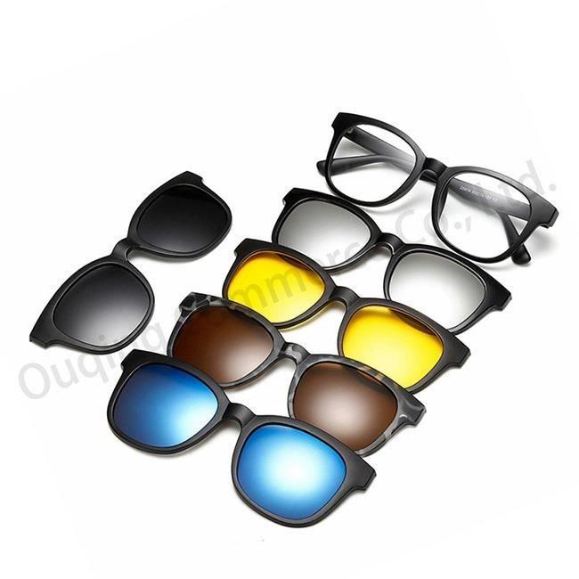 Hommes ronde lunettes de soleil p olarisées aimant d entraînement lunettes  de vision nocturne Femmes Lunettes à monture optique 566deee7d07d