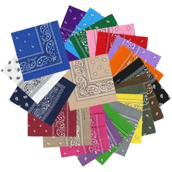 c02b539c26a6 Bandanas paisley couleurs mélangées - Lot de 12 - Achat   Vente ...