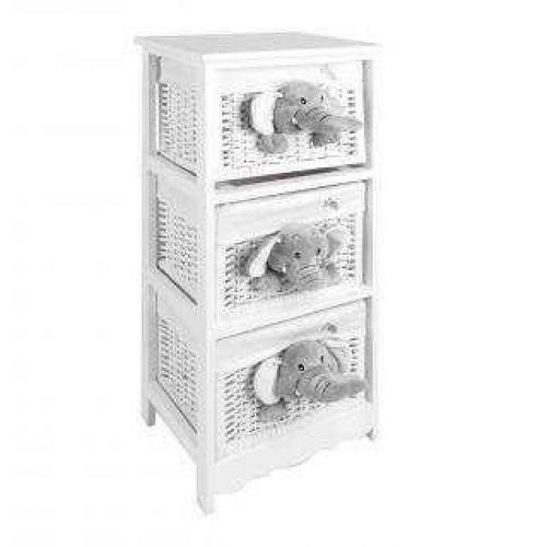 Meuble enfant 3 paniers osier Elephant - Achat / Vente petit meuble ...