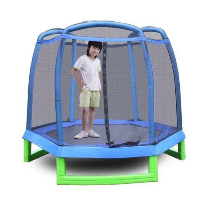 trampoline hexagone avec filet de s curit pour enfants prix pas cher soldes d s le 10. Black Bedroom Furniture Sets. Home Design Ideas