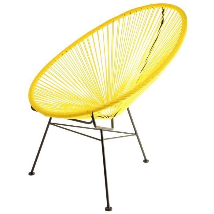 acapulco fauteuil jaune la chaise longue - achat / vente chaise