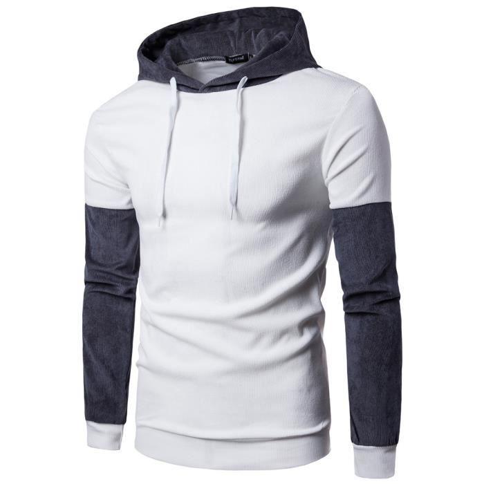 6b3ea3d0d15 Sweat capuche Hommes de marque luxe pas cher à rayures texturées Sweat  shirt Homme Vêtement Masculin