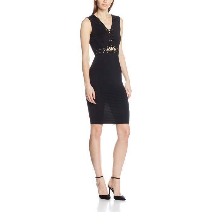 Womens Lace Up Bodycon Dress 2DKASC Taille-32