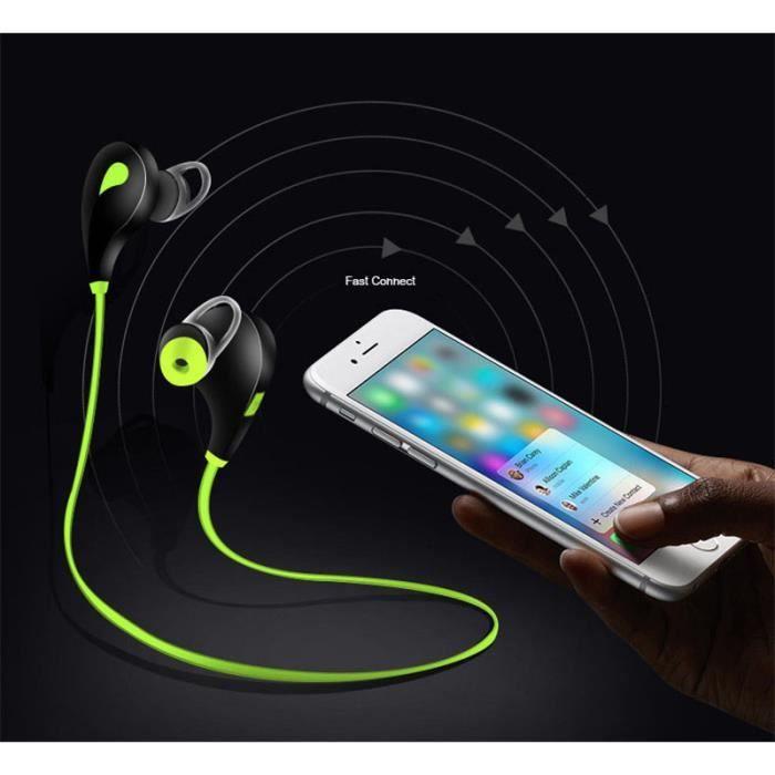 Oem - Ecouteurs Bluetooth Sport Pour Sony Xperia Xz3 Smartphone Sans Fil Bouton Son Kit Main Libre Intra A Couleur:jaune