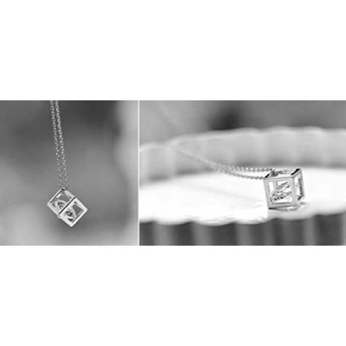 Womens Darling Rhodium Plated Crystal Studded Alloy Pendant For AndRYB45