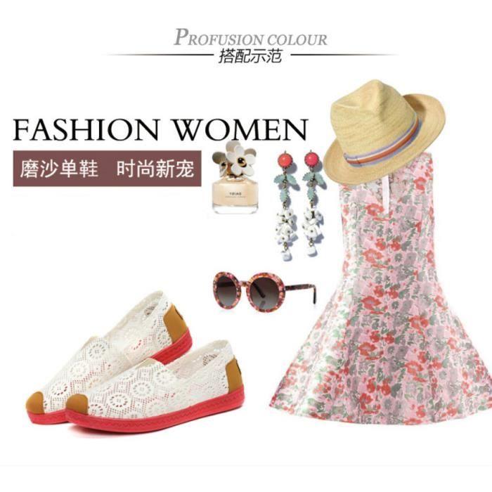 Femme mode d'été chaussures casual chaussures e... DFJuXwALrD