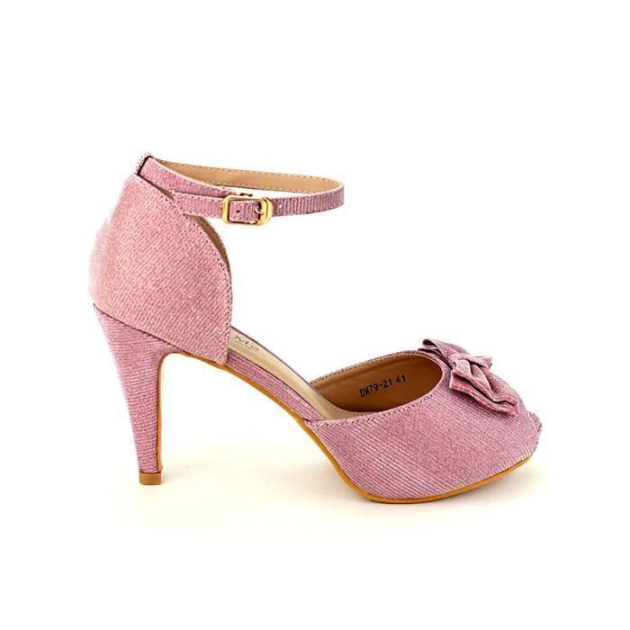 escarpin, Escarpins Rose Chaussures Femme, Cendriyon