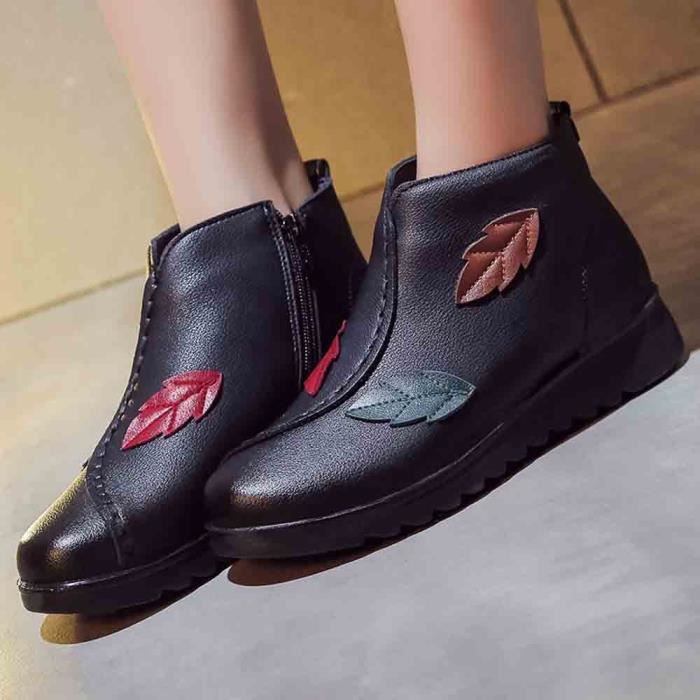 Chaussures Boot aged Femmes Casual Bottine love5899 Chaud Moyen Femme Hiver Bottes Neige BZaqB