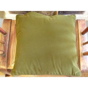 coussin vert velours achat vente coussin vert velours pas cher soldes d s le 10 janvier. Black Bedroom Furniture Sets. Home Design Ideas