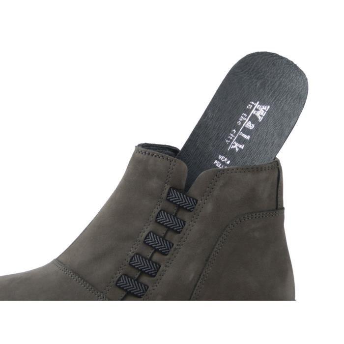 IMAC, Sneaker femme, suede et cuir noir brillant – 82550