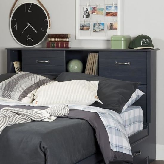 South Shore Ulysses 54 Bookcase Headboard With Sliding Doors Full