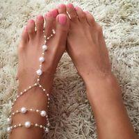 CHAINE DE CHEVILLE Femmes Plage perles imitation Pieds nus et pieds s