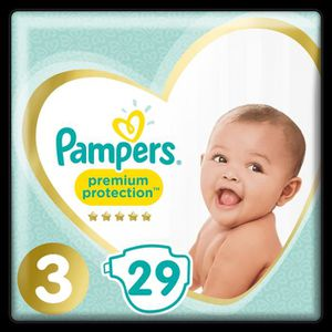 COUCHE PAMPERS Premium Protection Taille 3 - 5 à 9kg - 29