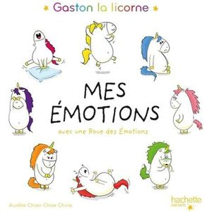 Livre 3-6 ANS Gaston la licorne, mes émotions. Avec une roue des