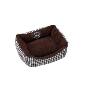 D&D Coussin Sweet Checker Domino-bed - 80 x 60 x 24cm
