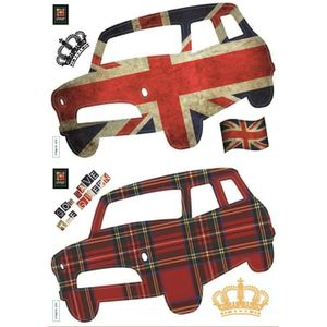 PLAGE Stickers adhésif mural Taille S - God save the queen2 planches 29,7 x 21 cm, divers motifs