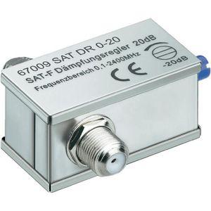 REPARTITEUR TV Atténuateur réglable, 0-20 dB, f-jack/f-jack