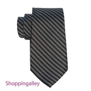 5067014263fd CRAVATE - NŒUD PAPILLON Cravate Calvin Klein Rayures Noir Gris 100% Soie S  ...