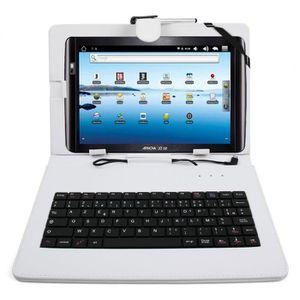 CLAVIER POUR TABLETTE Etui blanc+clavier pour Archos Arnova 10.1