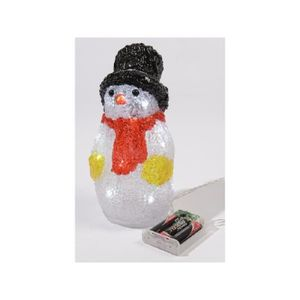 OBJETS LUMINEUX DÉCO  Bonhomme de neige de Noël lumineux en acrylique LE