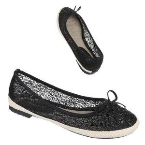 Femme chaussures flâneurs aéré lumière Slipper noir 41 6vXdn