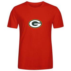 hot sale online 939d9 0c066 T-SHIRT Homme Unique Personnalisé Coton T shirt NFL Green