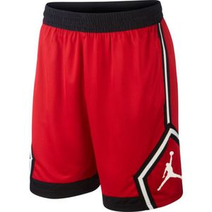 38c43a7d74cc CHAUSSURES BASKET-BALL Short Jordan Diamond Basketball Rouge Pour Hommes