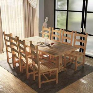 Table En Teck Avec 8 Chaises Achat Vente Pas Cher