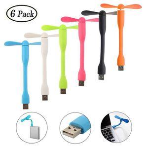 VENTILATEUR D'APPOINT Lot de 6 Mini Ventilateur USB Portable Flexible Co