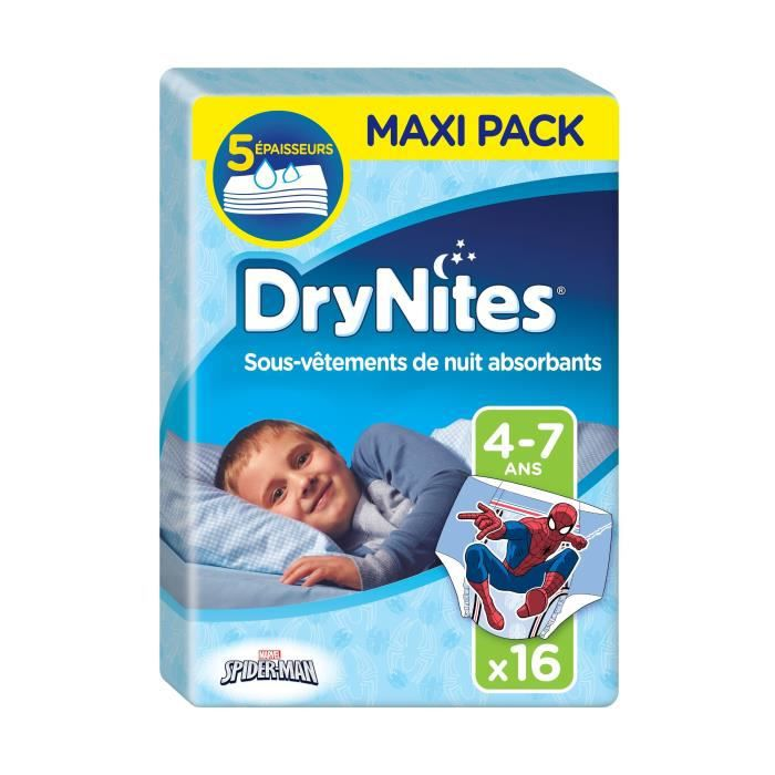 Huggies Couches Culottes Drynites Spiderman Garcon 4 7 Ans 17 30