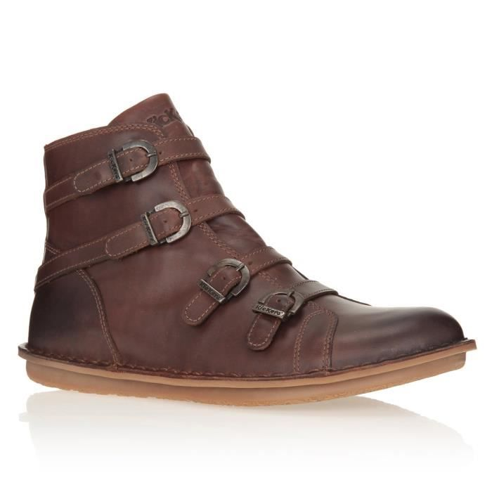 1f7a2c9125bace KICKERS Bottines Waxing Chaussures Femme femme Marron - Achat ...