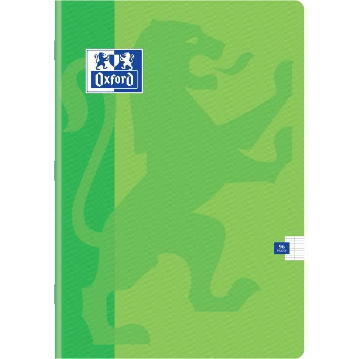 OXFORD Cahiers Color Life A4 Seyes - Vert