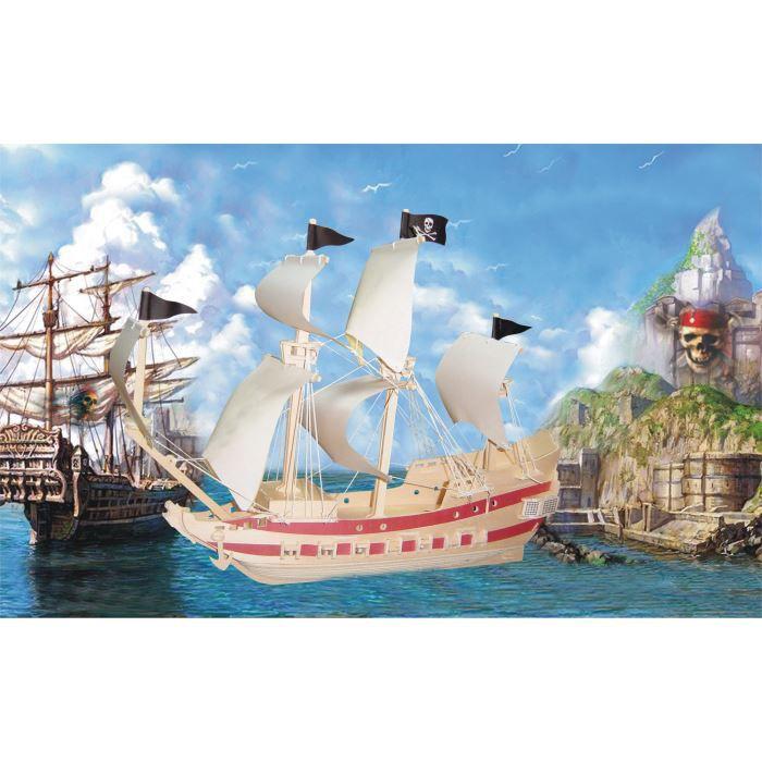 maquette bateau pirate 139 pi ces bois achat. Black Bedroom Furniture Sets. Home Design Ideas