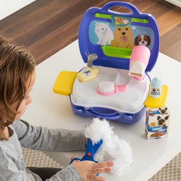 DOCTEUR - VÉTÉRINAIRE Jeu de toilettage pour enfant avec mallette Fun jo