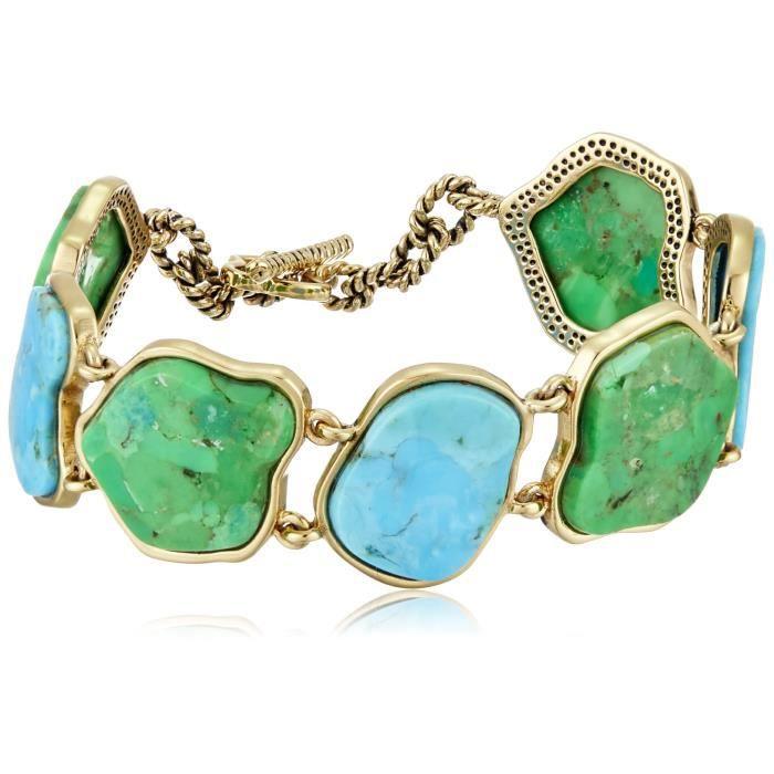 Turquoise And Lime Turquoise Toggle Bracelet IXM4U