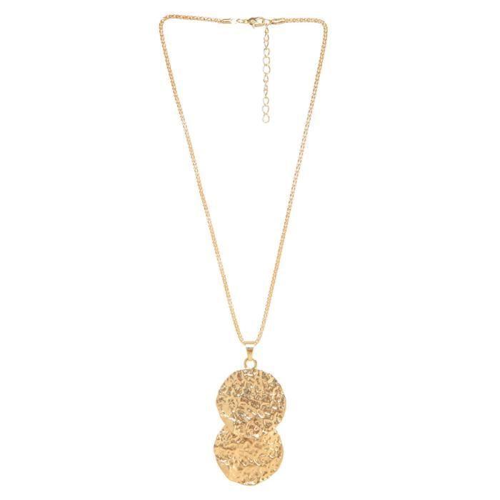 Plaqué or féminin double Circles Pendentif pour - Mjn005 YM8IV