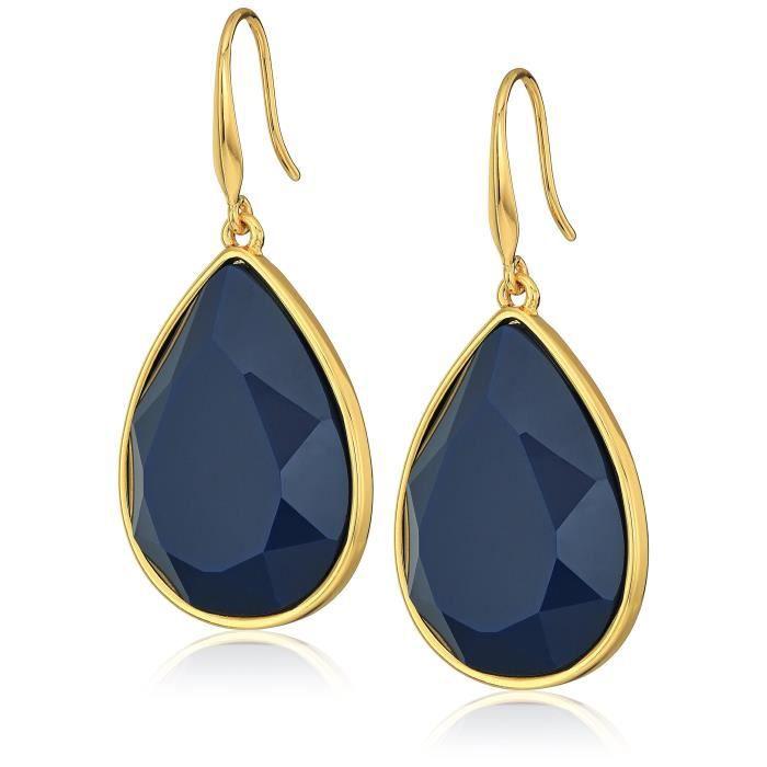 Trina Turk Core Ii Gold-navy Teardrop Earrings E7RXP