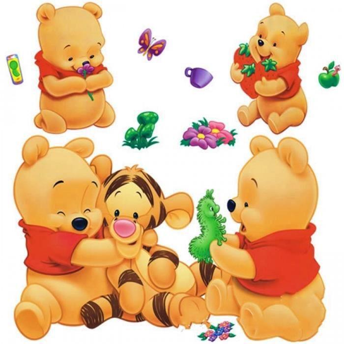Dessins Animés Animaux Winnie l\'ourson Vinyle Stickers Muraux Pour ...