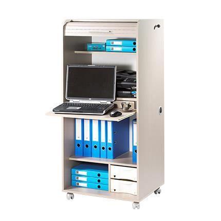 BUREAU  Armoire informatique contemporain 2 tiroirs L 65,2