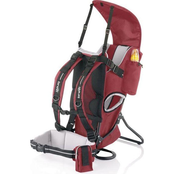 7595ea25f31 BREVI Porte bébé dorsal ROCKY rouge Rouge - Achat   Vente porte bébé ...
