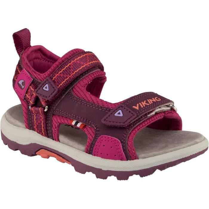 Viking Sandales Hvasser Enfant Plum/Dark Pink